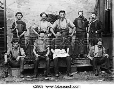 Pictures of 1895 Group Portrait Of Carpet Mill Workers o2968.