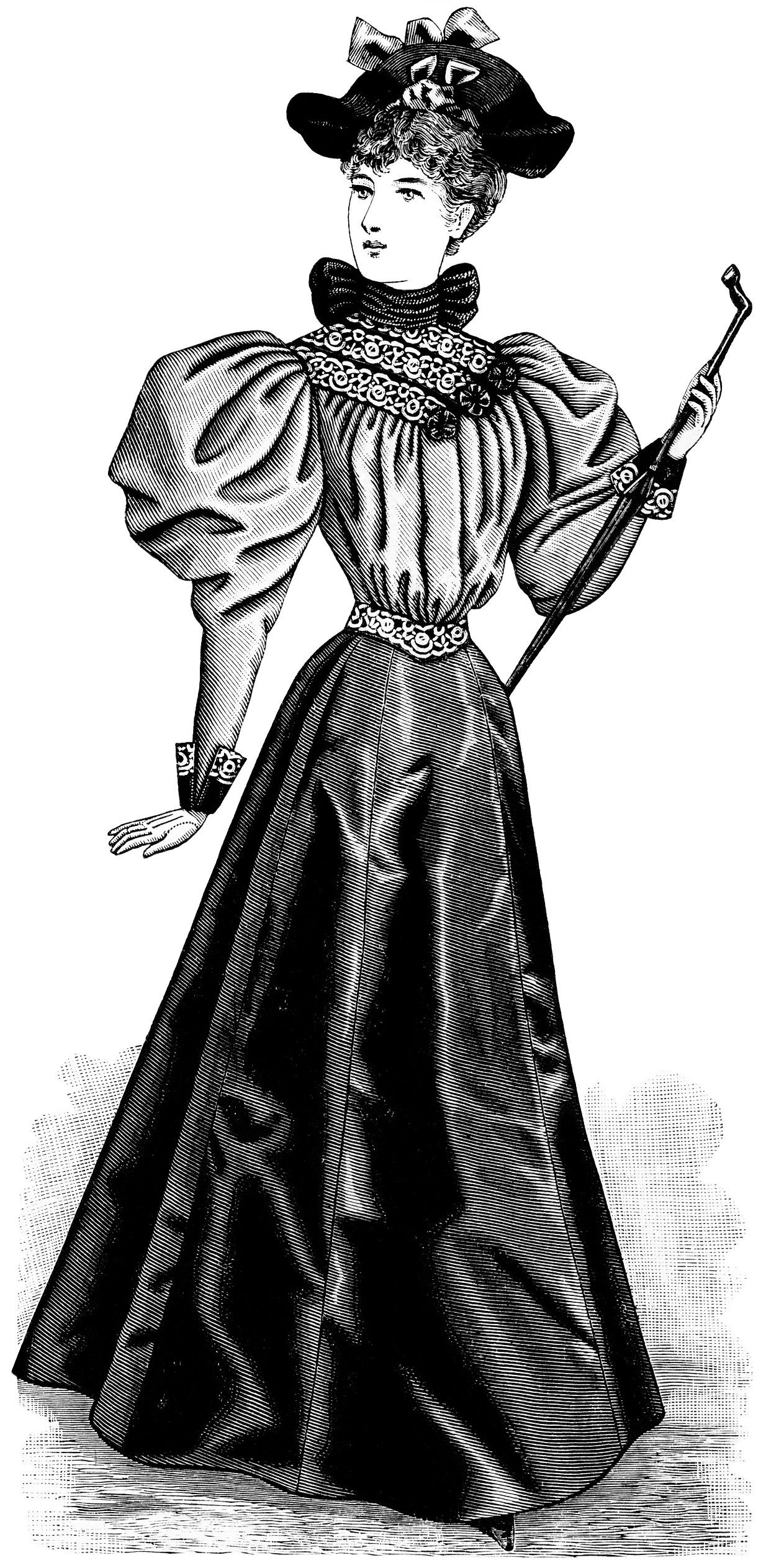 Old Design Shop ~ free digital image: Victorian fashion 1895.