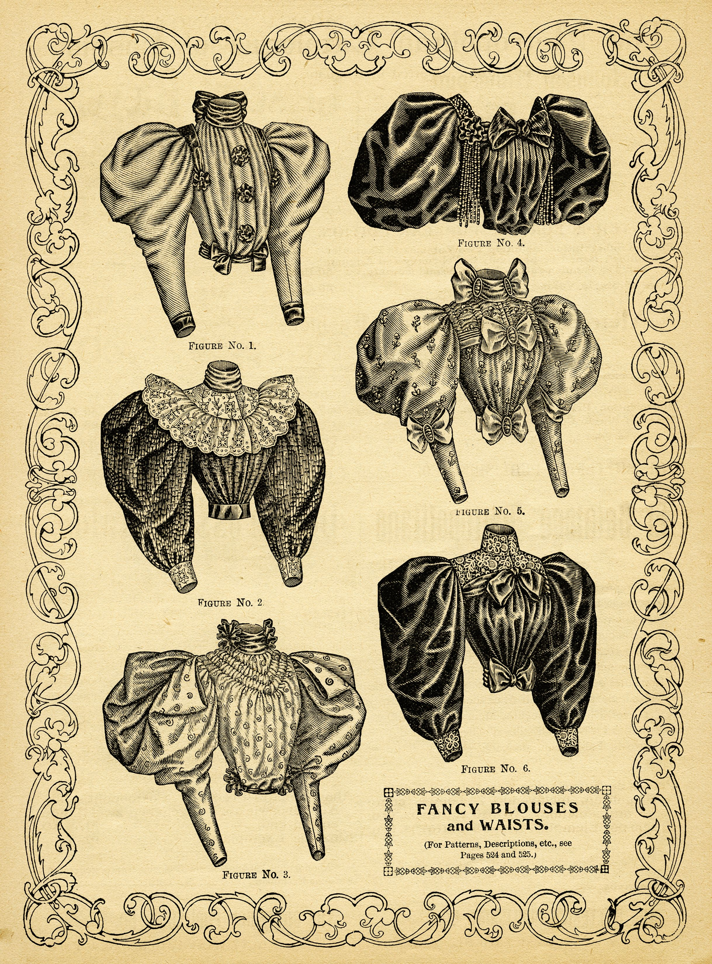 from the April 1895 issue of The Delineator magazine Victorian.