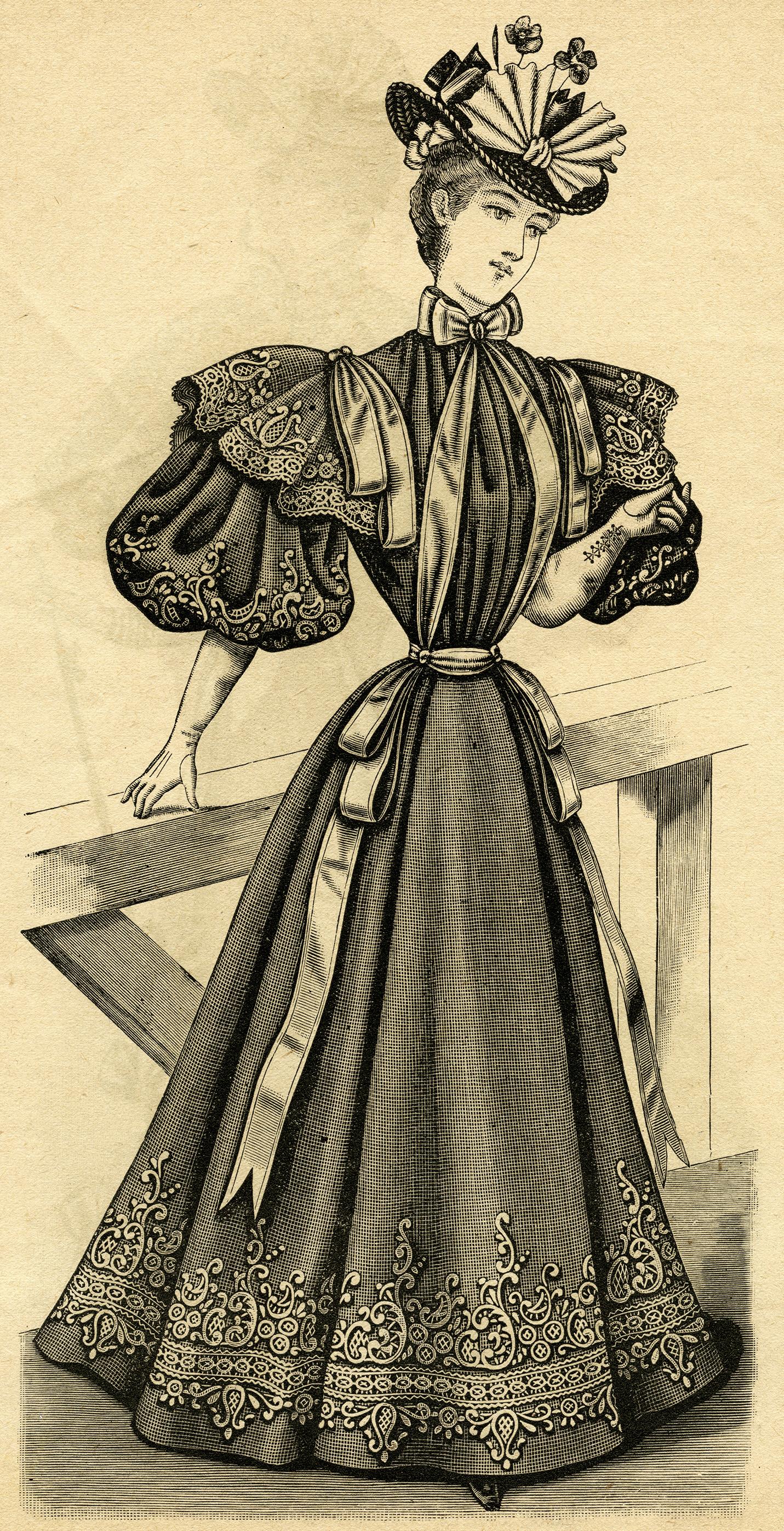 Victorian Ladies' Costume 1895.