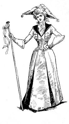 Free Clip Art of 1895 Halloween Costumes.