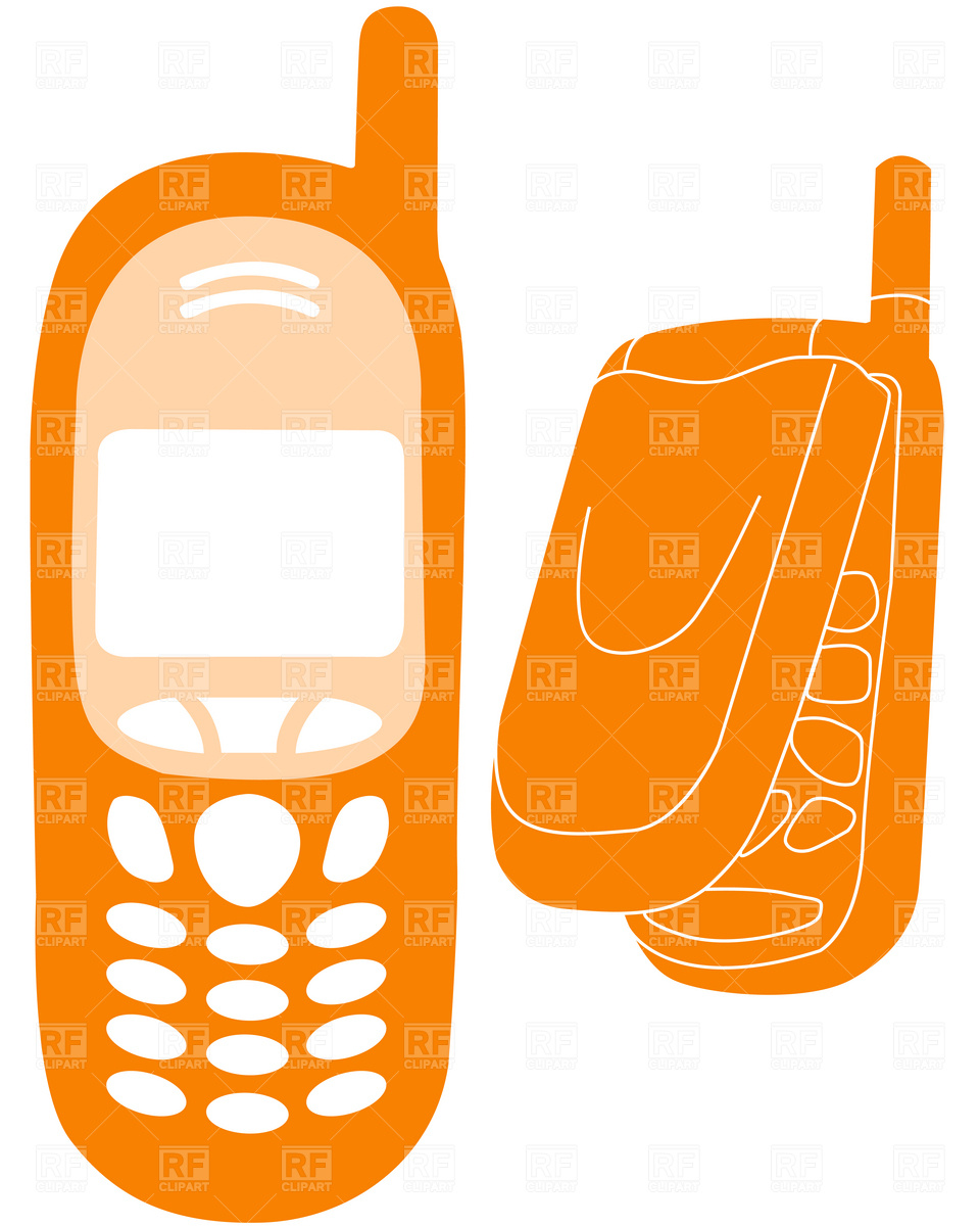 Mobile phones outline Vector Image #1896.