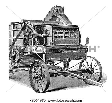 Stock Illustrations of Agricultural machinery, 1897 k8054970.