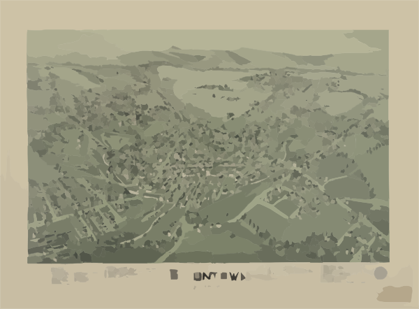 Uniontown, Pennsylvania, 1897 Clip art.