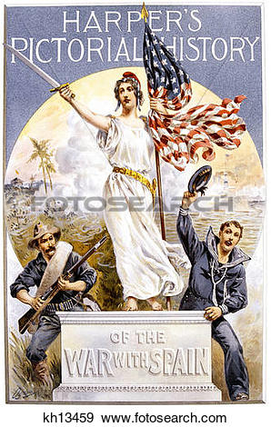 Stock Photograph of 1898 Harper'S Pictorial History Cover Liberty.