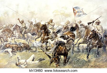 Stock Photography of 1898 The Battle Of Desmayo The Cuban.