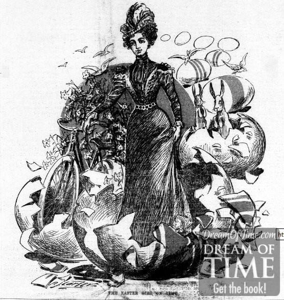 Clip art: Vintage ladies.