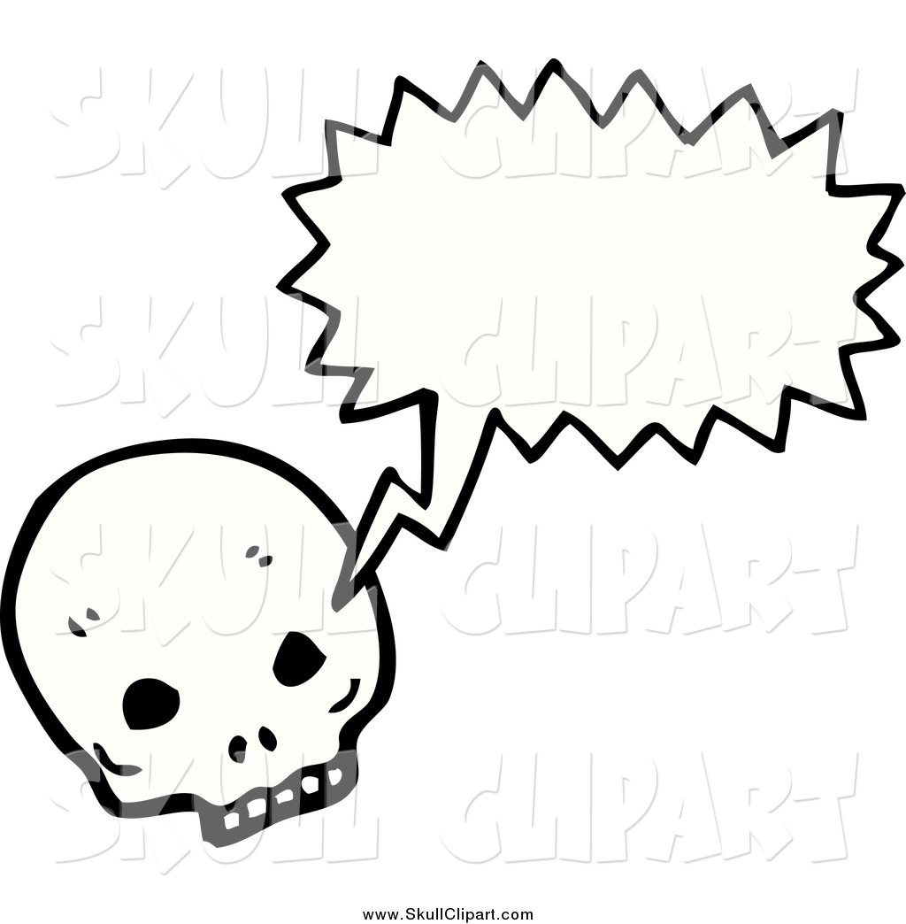 Vector Clip Art of a Skull Talking by lineartestpilot.