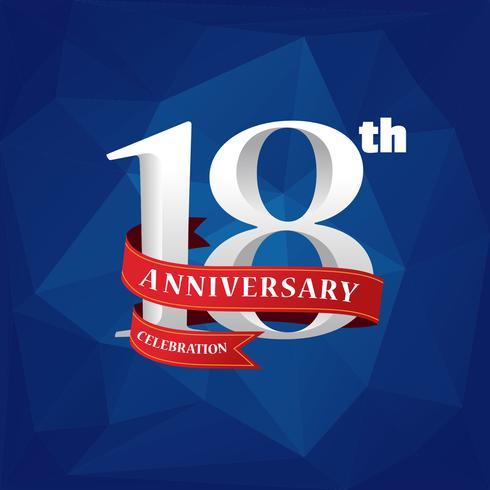 Free Vector 18th Anniversary Celebration.