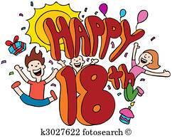 Free 18th birthday clipart » Clipart Portal.