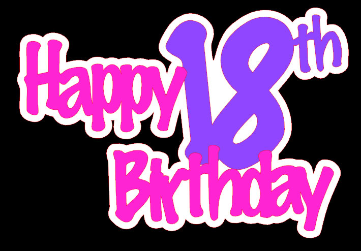 Free Happy 18 Birthday, Download Free Clip Art, Free Clip.