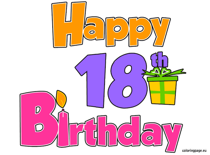 18th birthday party clip art 18 birthday clipart 5.