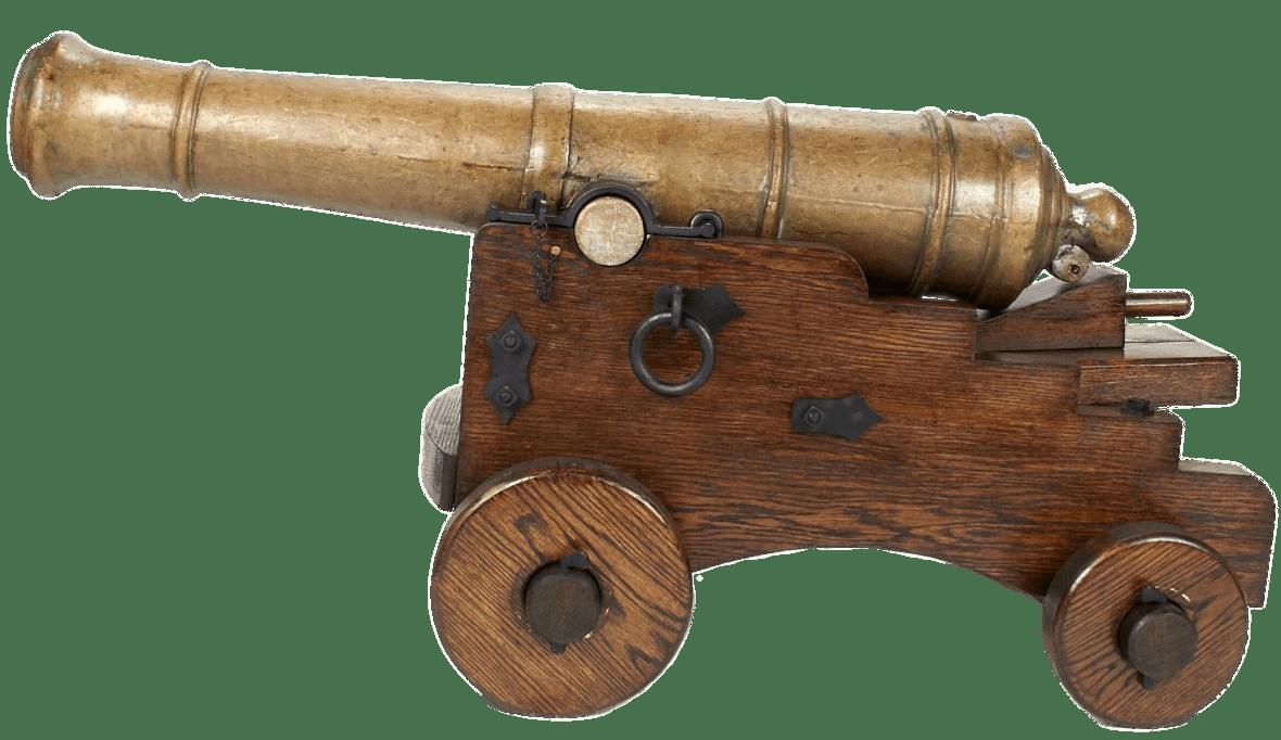 18th Century 6 Pounder Cannon transparent PNG.