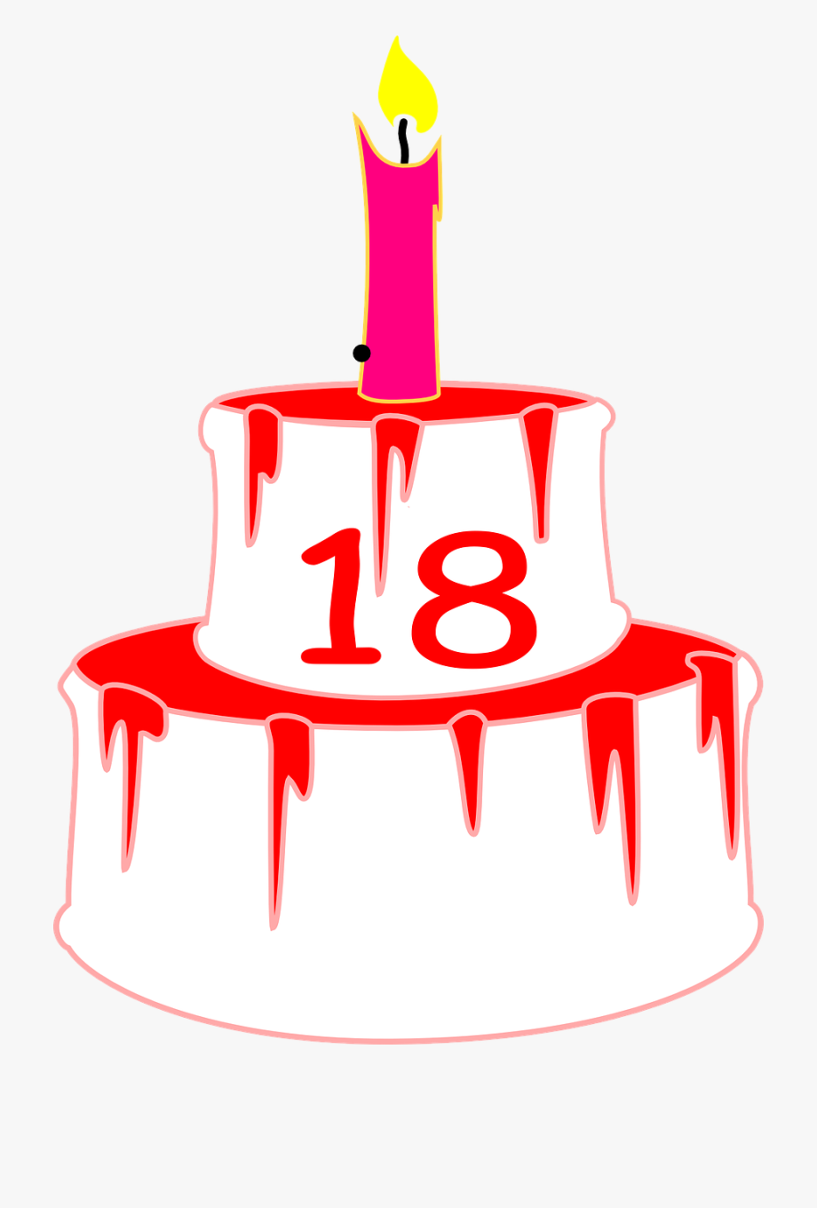 18th Birthday Cake Png , Transparent Cartoon, Free Cliparts.