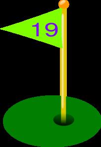 Golf Flag 19 Clip Art at Clker.com.