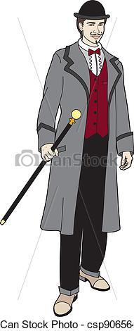 Vector Clipart of Gentleman.
