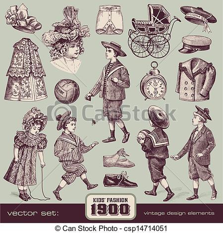 1900s boy clipart.