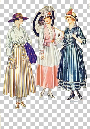 12 1900s In Western Fashion PNG cliparts for free download.