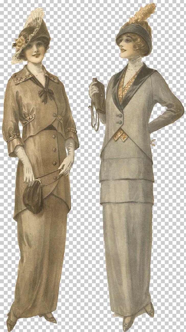 Vintage Clothing Edwardian Era Fashion Illustration 1900s.