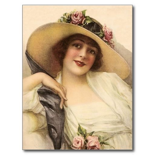 1900\'s Vintage Victorian Woman Postcard.