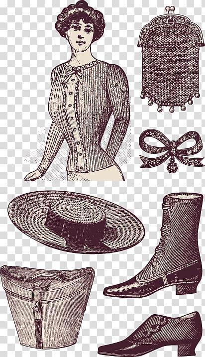 Fashion accessory Illustration, Women\\\'s clothing patterns.