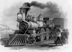 Trains in the 1860s.