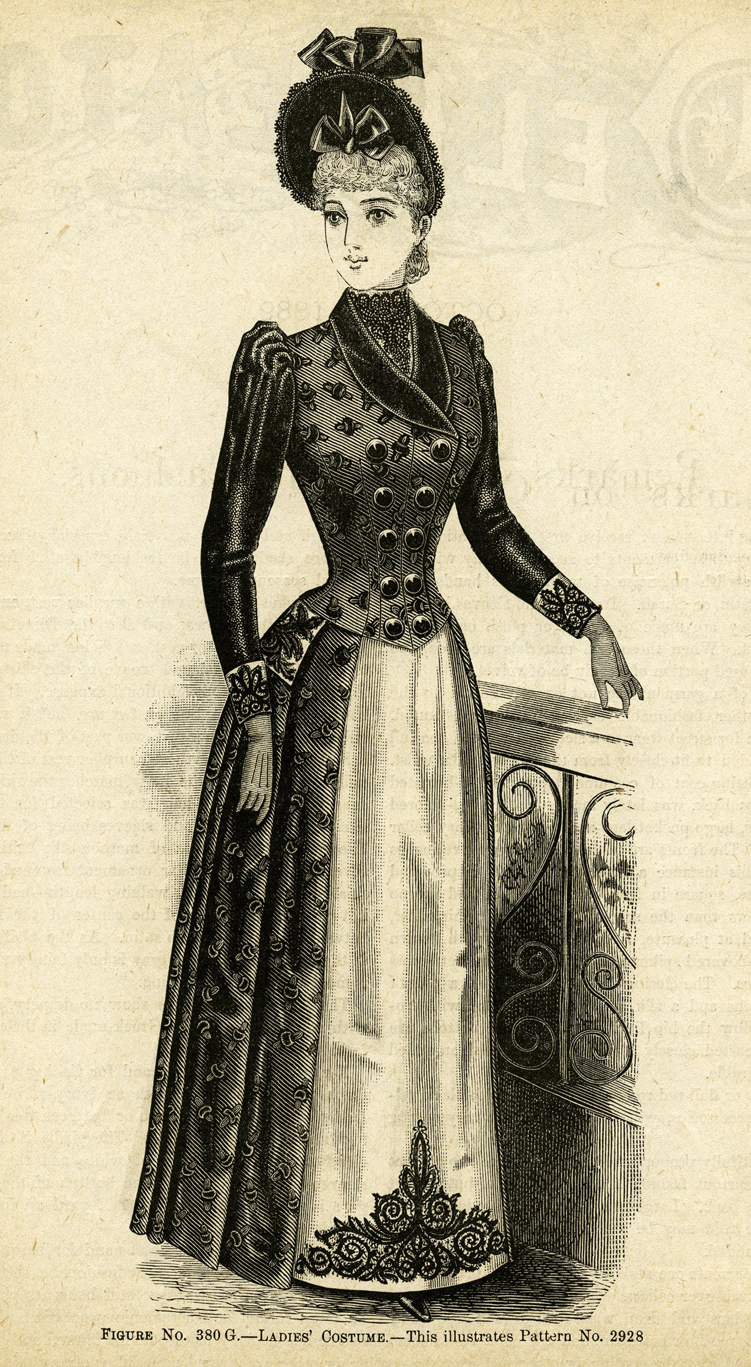 victorian lady clipart, black and white clip art, free.