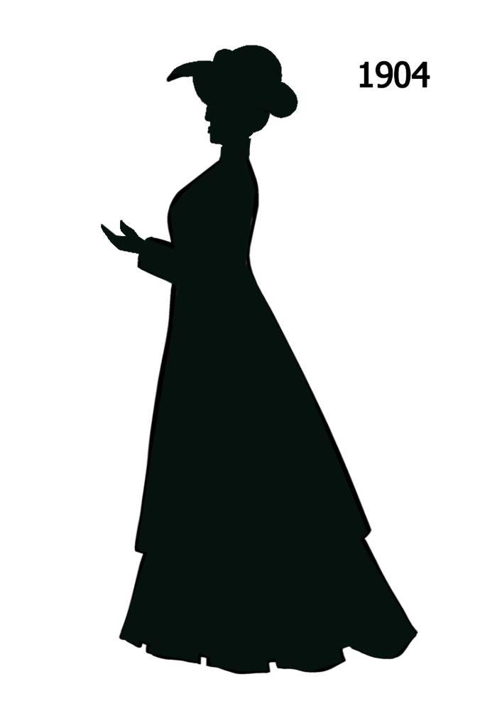 Free Black Silhouettes 1900.
