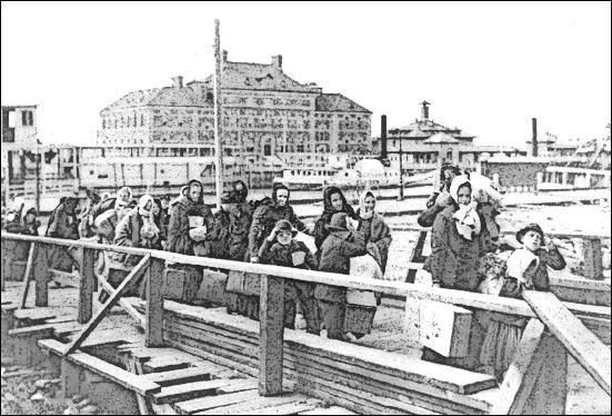 Ellis Island 1902 Clip Art Download.