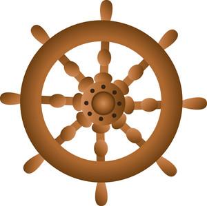 Free Ship Wheel Clip Art Image.