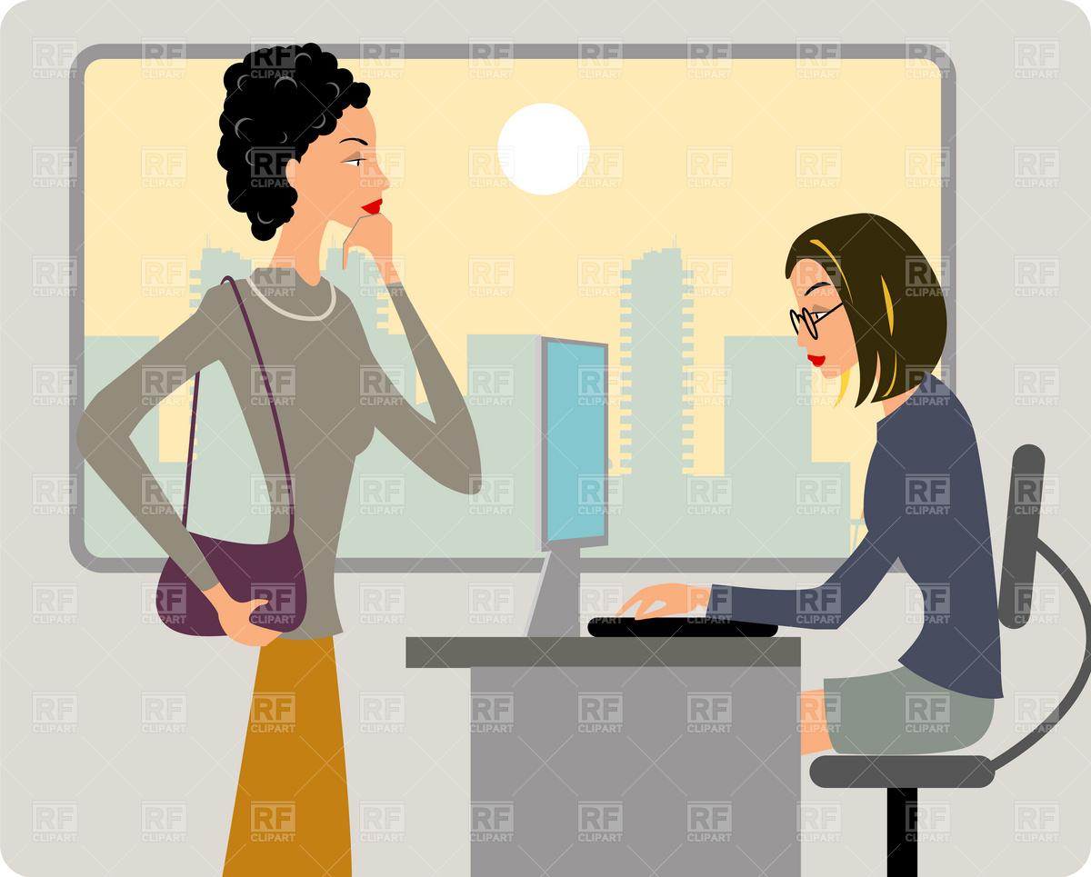 Office Women Clipart.