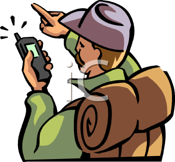 Hiker Using a GPS Device.