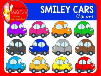 SMILEY CARS CLIPART.