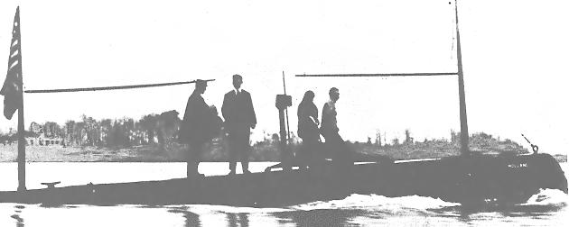 USS Holland Submarine 1905 Clip Art Download.