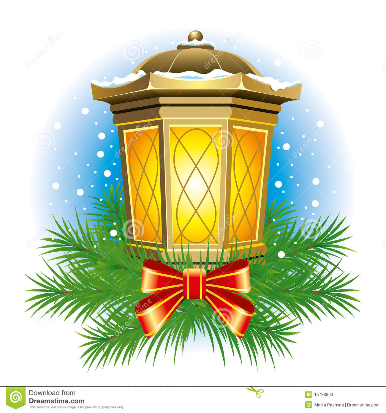 Christmas Lanterns Clipart.