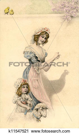 Clipart of Vintage Card from 1905 k11547521.