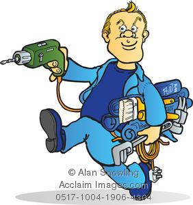 Clipart Image of Handyman.
