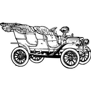 Model T 1906 Car clipart, cliparts of Model T 1906 Car free.