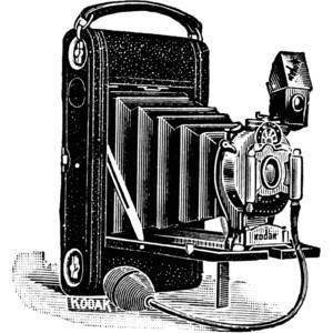 Kodak Camera, 1907 Clipart.