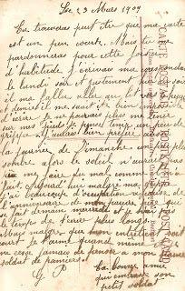 Antique Images: Free Digital Background: 1909 French Postcard Back.
