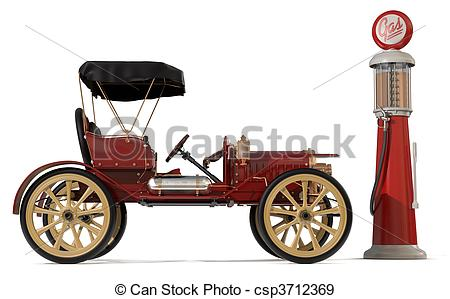 Stock Illustration of Antique Car 1910.