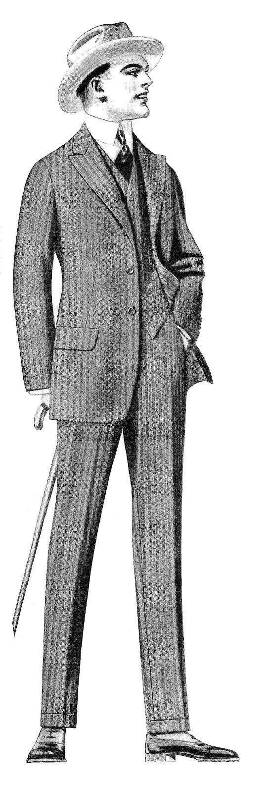 Antique Images: Vintage Men's Fashion Clip Art: 2 Vintage Men's.