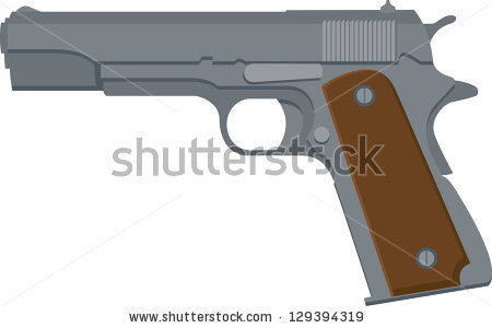Vector Illustration Of A 1911.