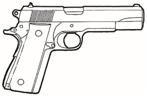 1911 Pistol Clipart.