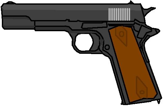 Colt 1911 Clip Art.