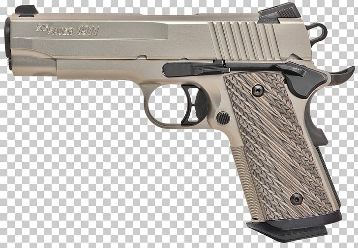 SIG Sauer 1911 .45 ACP Firearm M1911 pistol, Handgun PNG.