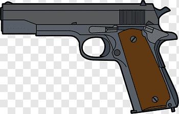 M1911 Pistol cutout PNG & clipart images.