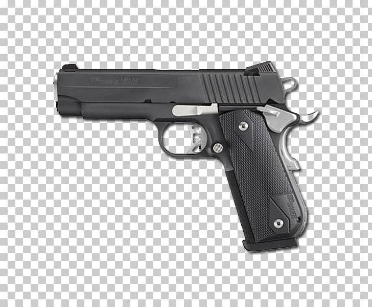SIG Sauer 1911 .45 ACP Firearm Pistol, Handgun PNG clipart.