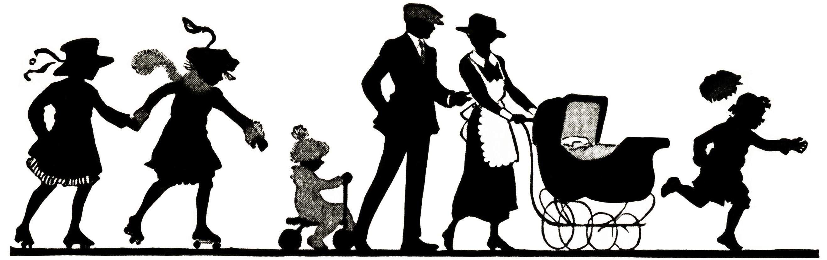 Clip Art Older Family Clipart.