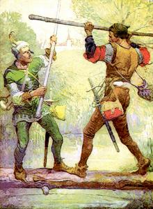 Robin Hood And Little John 1912 Clip Art Download.